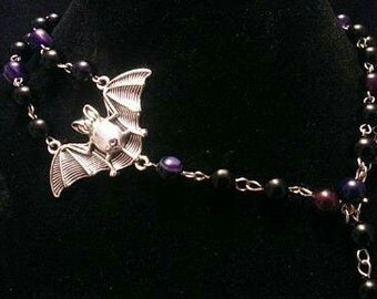 Bat rosary in purple
