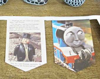 SALE Thomas the Tank Engine Party Bunting - Train Baby Shower Supplies Decoration - For Boys Girls
