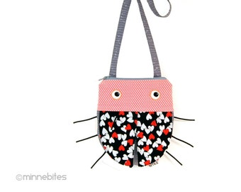 Cute Gift for Girls - Ladybug Purse - Pink Love Bug - Fabric Purse for Toddlers Birthday - Childs Cross Body Handbag - Ready to Ship