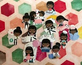 """Huge lot 12 different """"Adulting"""" African American decorative planner stickers fit most planners"""