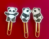 Panda love planner clips will fit most planners, journals, office supplies, and use for bookmark