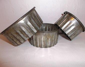 Antique Tin Collection Biscuit Cutters Circa 1890s