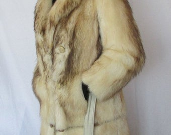 SPRING COAT SALE Women's Size 8 Fitch Fur Coat, Full Length Fur Coat, Winter Coat, Fashion Fur Coat, Made in Canada by Dave Fur Co of Toront