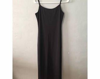 Black Polyester Maxi Dress