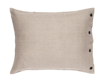 Soft linen pillowcase with buttons, Pillowcase, Natural bedding, Linen shams, King pillowcase, Linen pillowcases