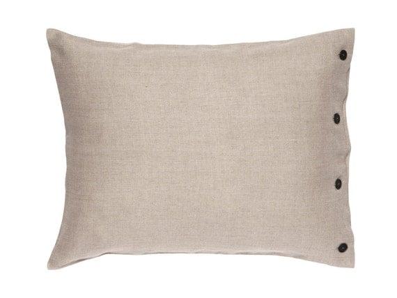 Soft linen pillowcase with buttons, Pillowcase, Natural bedding, Linen shams, King pillowcase, Linen pillowcases