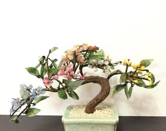 Vintage  Glass Bonsai Tree