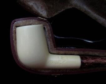 Smooth Straight Billiard Canadian Block Meerschaum Pipe Tobaco Smoking Gift 6485