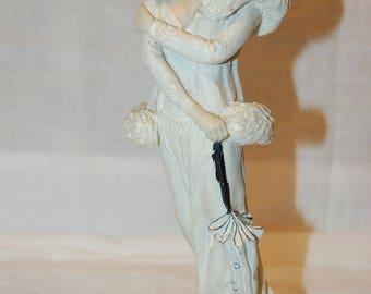 1920's Flapper Figurine Detailed Art Deco Lady Figurine Flapper Woman Costumed 1920's Era Style Decorative Female Statue