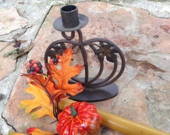 Vintage Candle Holder with leaf Design