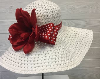 Kentucky Derby Hat - Horse Race Hat - Bridal Shower Hat - Church Hat - Tea Party Hat - Wedding Hat - Sun Hat