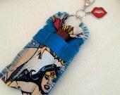 Wonder Woman Chapstick Holder Keychain for Women, Lip Balm Holder Key Ring, Lip Balm Case, Lip Balm Keychain