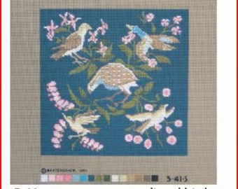 Needlepoint Canvas: Medieval Birds NEW