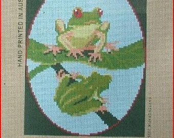 Tree Frogs NEW Needlepoint Canvas
