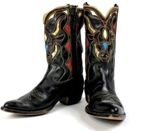 1940s Acme Steer Inlay Boots