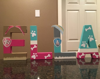 Paw Patrol Skye and Everest Custom Name Letters - price is per letter