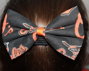 Baltimore Orioles Hair Bow/Hair Clip Accessory