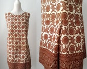 Vintage Romper, Vintage Dress, 1960s Dress, Brown 60s Dress, Vintage Mod Dress, Cotton Summer Romper, 60s Romper, Vintage Jumpsuit,
