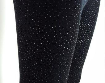 Ladies Limited Edition - Glitter Pin Dot Velvet Leggings - pick your size
