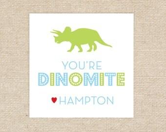 Printable Dinosaur Valentine Tags