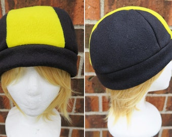 Gold and Silver Pokemon Trainer Hat  - Fleece Hat Adult, Teen, Kid - A winter, nerdy, geekery gift!