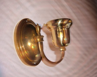 Vintage Brass Single Wall Sconce-#1