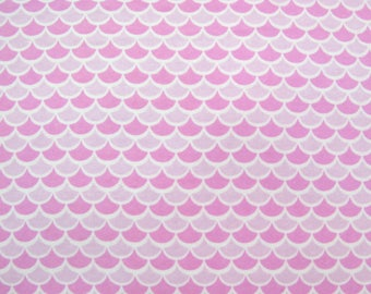 Flannel Fabric by the Yard in a Fun Pink on Pink Print 1 Yard