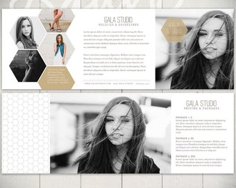 Photography Tri-fold Brochure Template: Gala Studio - 5x5 Business Marketing Brochure