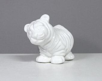 Vintage Bellini White Porcelain Tiger Cub
