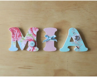 100mm by 6mm -3 Wooden Letters