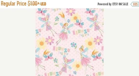 FLANNEL Flower Fairies PINK Pattern F2092 for Alpine Fabrics 100% Cotton Flannel Quilt Apparel Craft
