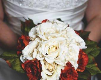 Custom Metallic Rose Bridal Bouquet