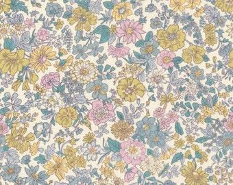 "Liberty Tana Lawn EMILY - 17"" wide x 13"" (43cm x 33cm) - pastels, cream"