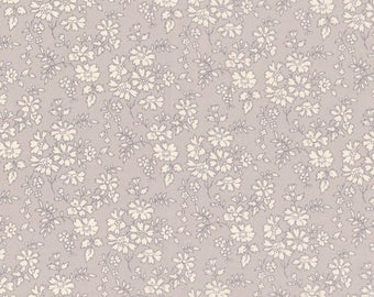"Liberty Tana Lawn fabric CAPEL - 17"" wide x 13"" (43cm x 33cm) - new colour 2017, grey, cream"