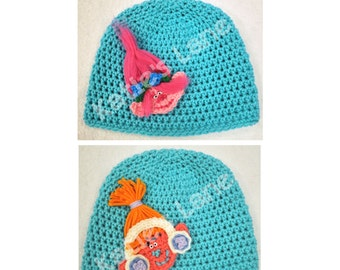 Trolls Hats - Handmade - Crochet