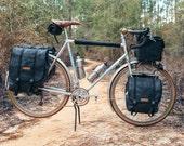Touring Set, Small Randonnuer, Large rear Panniers, front panniers, saddle bag