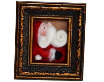Needle Felted Santa- Christmas Decor - Santa Claus - Christmas