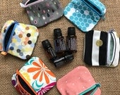 Essential Oils Roller Bottle Zip Pouch Fully Lined - Mini Dram Carry Bag - Ear Bud Zip Drive ID Case