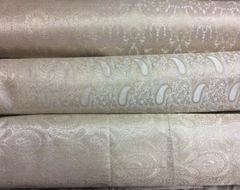 Bundle/Stack of off white and gold/cream and gold Indian brocade set of three fat quarters/perfect for crafting/sewing