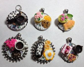 decoden pendants miniature food no chain kawaii cupcakes donuts mini coffee