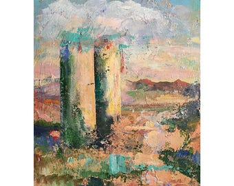 Landscape Painting Original Oil Painting LaSilo 11 x 14 inches