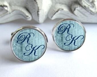 Monogram Cufflinks, Custom Initial Cufflinks, Gift For Him