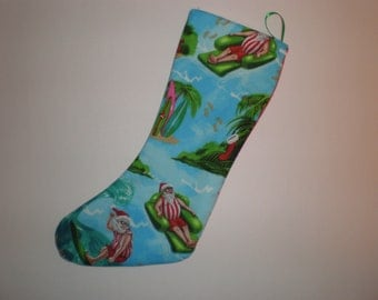 Beach Bum Santa Holiday Stocking