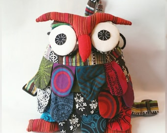 Owl Patchwork Backpack