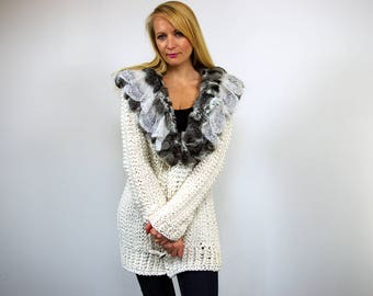 SALE White Cardigan Sweater