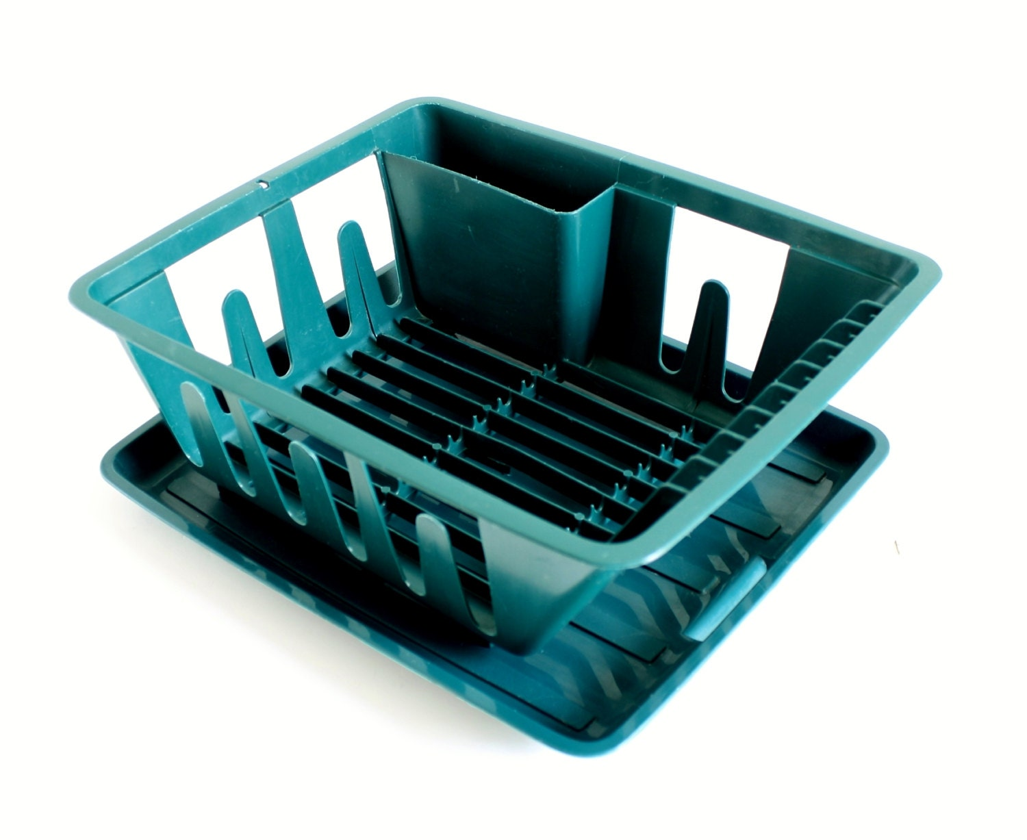 Small Plastic Dish Rack With Drainer Tray 440 441 Hunter