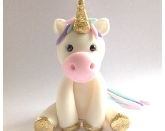 "2"" tall Unicorn Cupcake or Cake Topper, by Cupcake Stylist on Etsy"