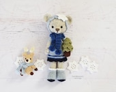 CROCHET PATTERN Samantha Snowflake Bear Doll and BONUS Reinder, Tree, and Snowflake Ornament Pattern (Instant Download)