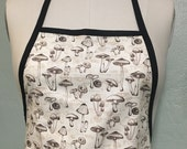 Custom adult mushroom apron can be embroidered for free