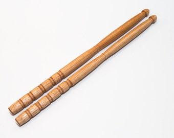 Handcrafted Hardwood Hickory Drum Sticks Specialty Drumsticks Hand Turned Drum Sticks Christmas Birthday Gift